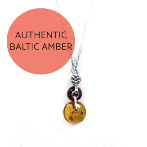 Amber teething fiddle necklace Honey 7 - Baltic amber necklace for teething baby pendant Honey