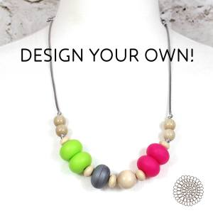 DESIGN YOUR OWN - Gilly silicone teething necklace DESIGN YOUR OWN BEACH STRIPES !