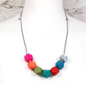 GEO BEADS SPECTRUM teething necklace 4 - Alice bright GEO BEADS silicone teething necklace
