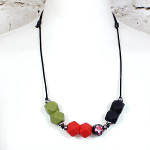 olive red betsy 2018 3 - Red Olive flora GEO BEADS silicone teething necklace