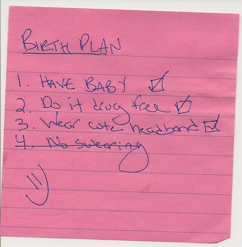 Our birth plan \u2013 mamaJO