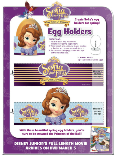 Sofia the First Printable Easter Egg Holders Mama Likes This