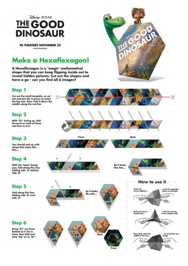 Hexaflexagon Instructions Choice Image - instructions manual example - hexaflexagon template