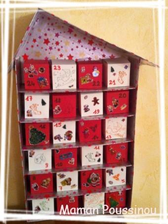 Un calendrier de l 39 avent fait maison c 39 est bien mais que mettre dedans maman poussinou - Calendrier maison de l avent ...