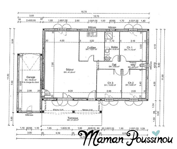 Faire des travaux et agrandir la maison - Plan cellier buanderie ...
