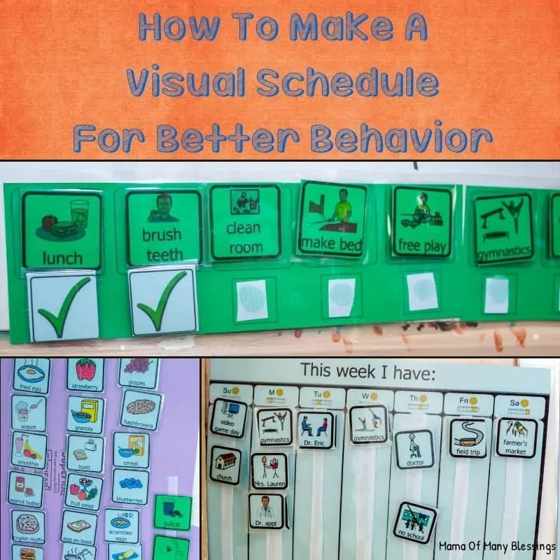 Visual Schedule For Better Behavior In SPD and ASD Kids