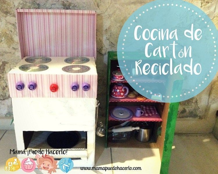 C mo hacer una cocina de juguete de cart n bricolaje - Cocinas de juguetes de madera ...
