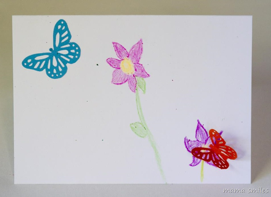 Teacher Thank You Cards for Kids to Make ~ Mama Smiles - butterfly thank you cards