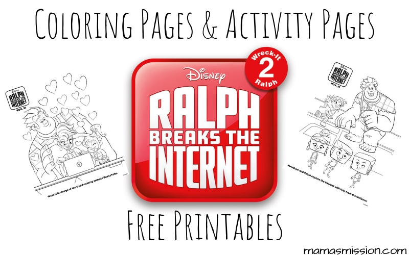 Ralph Breaks The Internet Coloring Pages - Free Printables