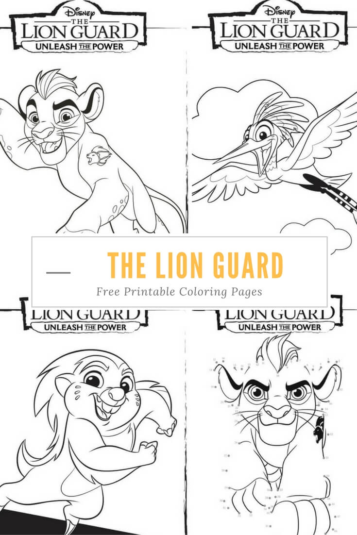 Free Coloring Pages Lion Guard