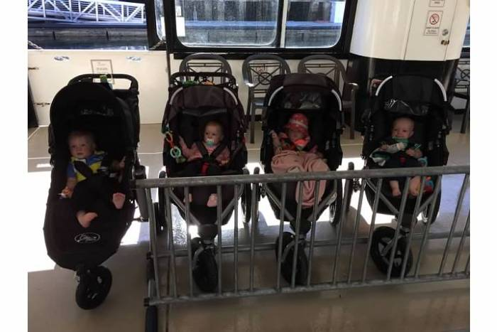 Strollers on Ferry