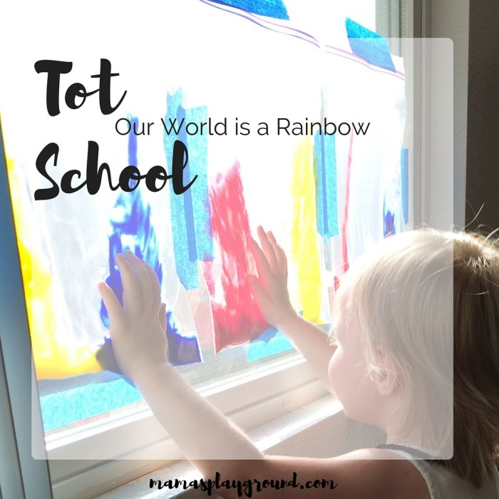 Tot School Our World is a Rainbow Insta