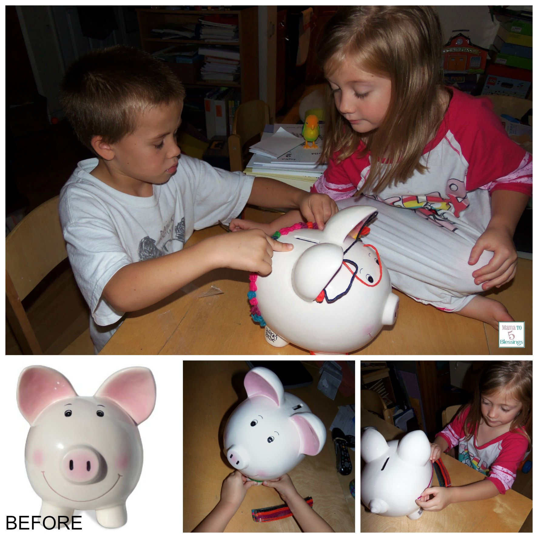 Money Bank For Kids Kids Can Save Money In Their Wikki Stix Piggy Banks