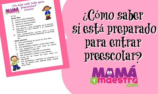 ¿Cómo saber si está preparado para preescolar? Checklist