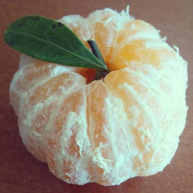 Skinless mandarin