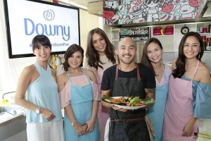 Chef JP with the lovely celebrity moms