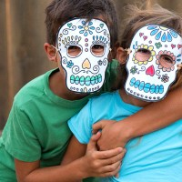 Printable Sugar Skull Masks for Day of the Dead