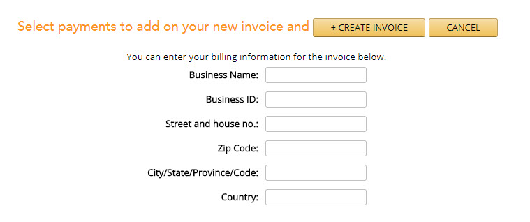 MBS - Knowledge base - Invoices