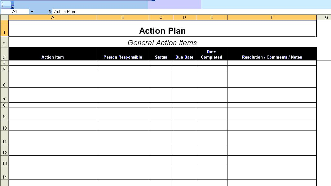 Action Plan Template Microsoft – Action Plan Template Microsoft