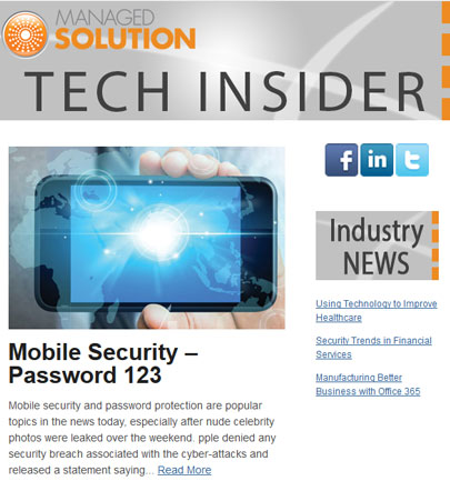 techINSIDER eNewsletters Managed Solution - tech insider