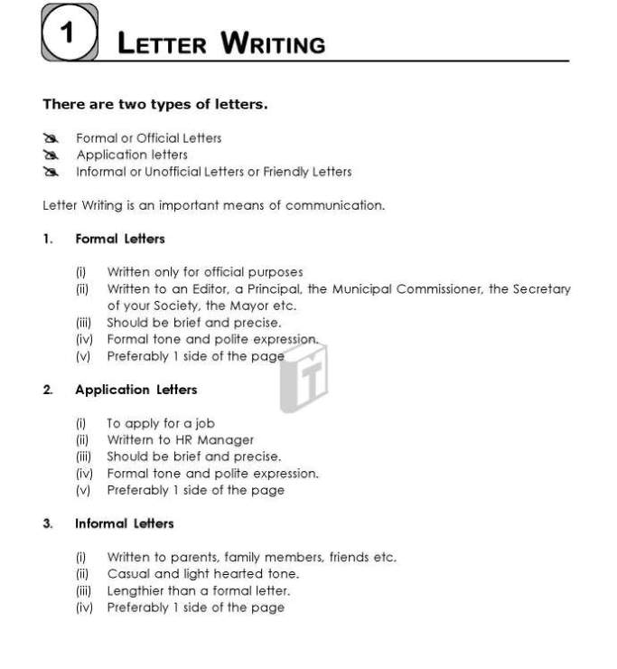 ssc board letter format 2018 2019 student forum letter writing format