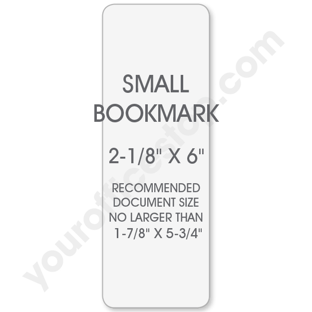 10 MIL Small Bookmark Laminating Pouches (2-1/8\