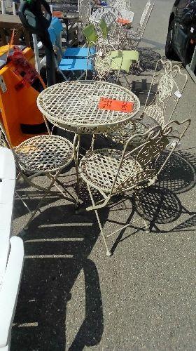 Table De Jardin Fer Forgé Occasion | Table De Jardin En Fer Forgé ...