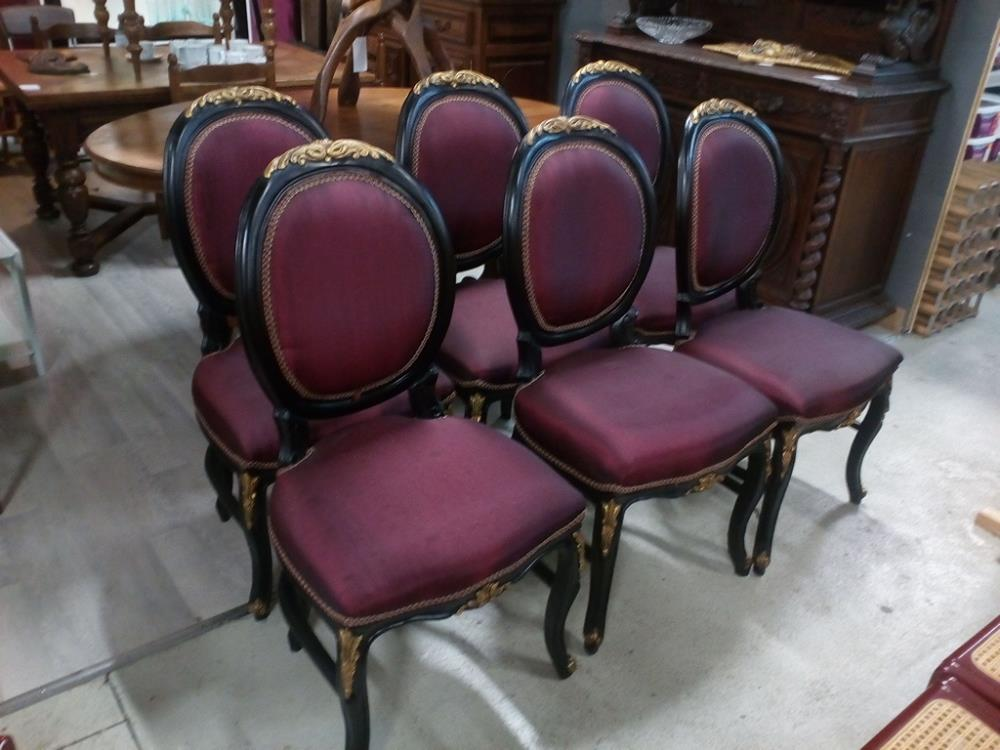 Chaises Medaillons 6 Chaises Medaillons Occasion Troc 24