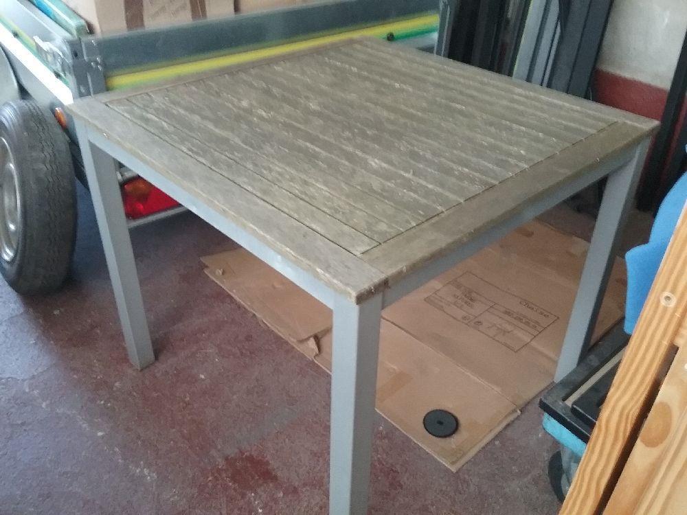 Table Teck Occasion | Table Ronde Bois Rallonge Extensible A En ...