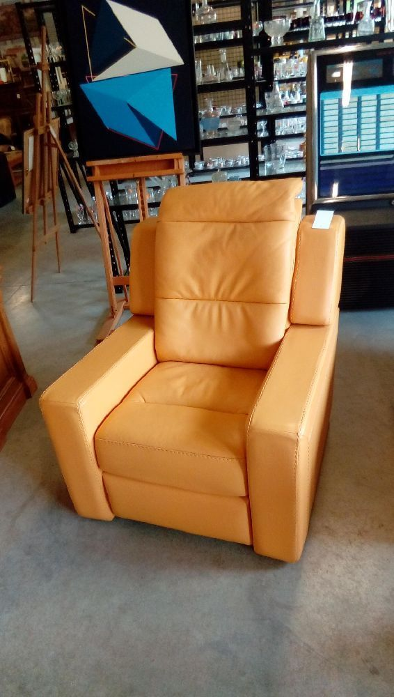 Fauteuil Cuir D'occasion Fauteuil Cuir Jaune B Marly Occasion Troc Fecamp
