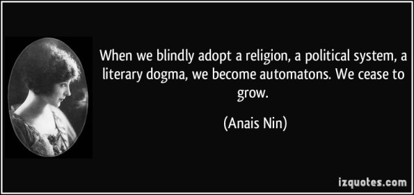 When does experience get ossified into dogma?