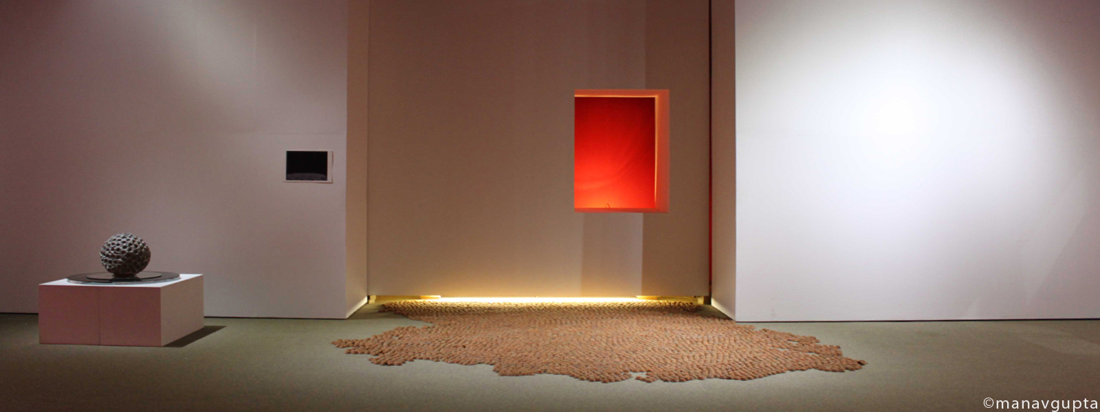 Manav Gupta - Earthen lamps installation - river of clay
