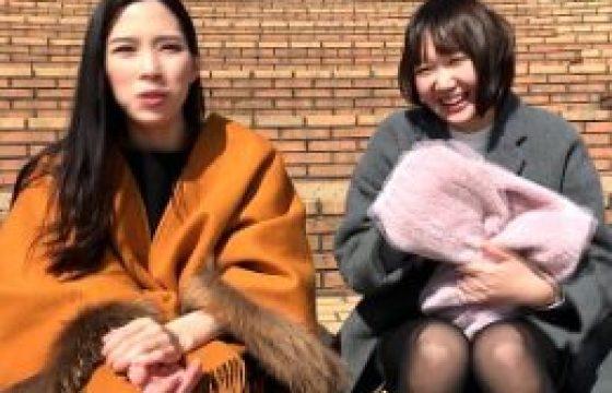 ヤリマン女子大生が友達と一緒にAV出演でビクビク痙攣イキ!二宮和香・橋下まこ