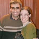 A Manchester couple poses in the lobby