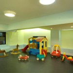 Our colorful engaging Children's Playroom is a popular gathering spot for families