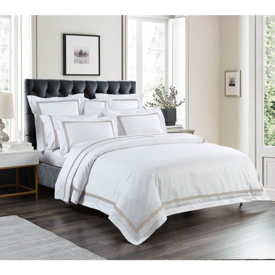 Quilt Cover King 1000 Thread Count Mocha Quilt Cover Set
