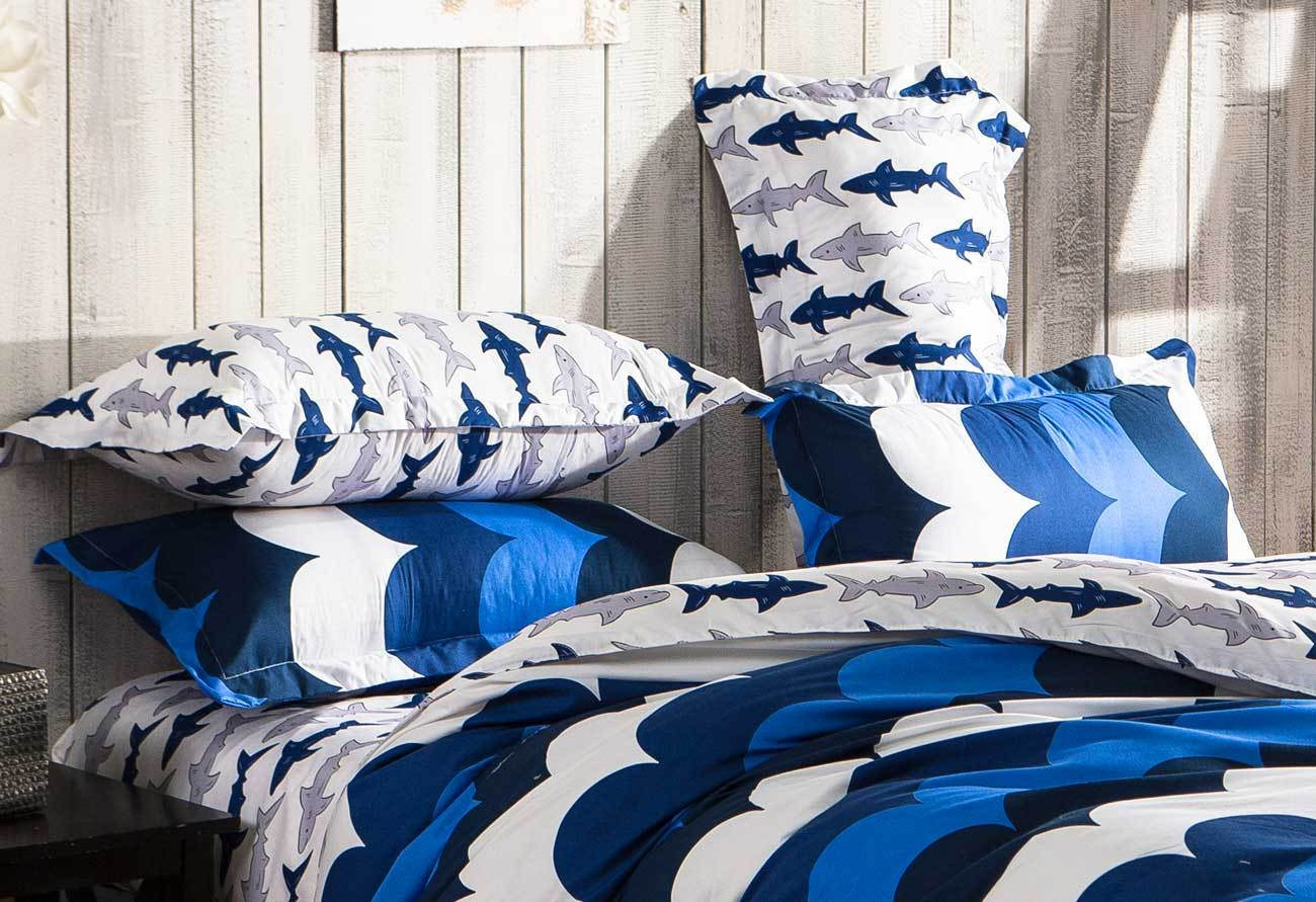 Single Doona Cover Single Size Surf On Bed Quilt Cover Set Navy Blue 2pcs