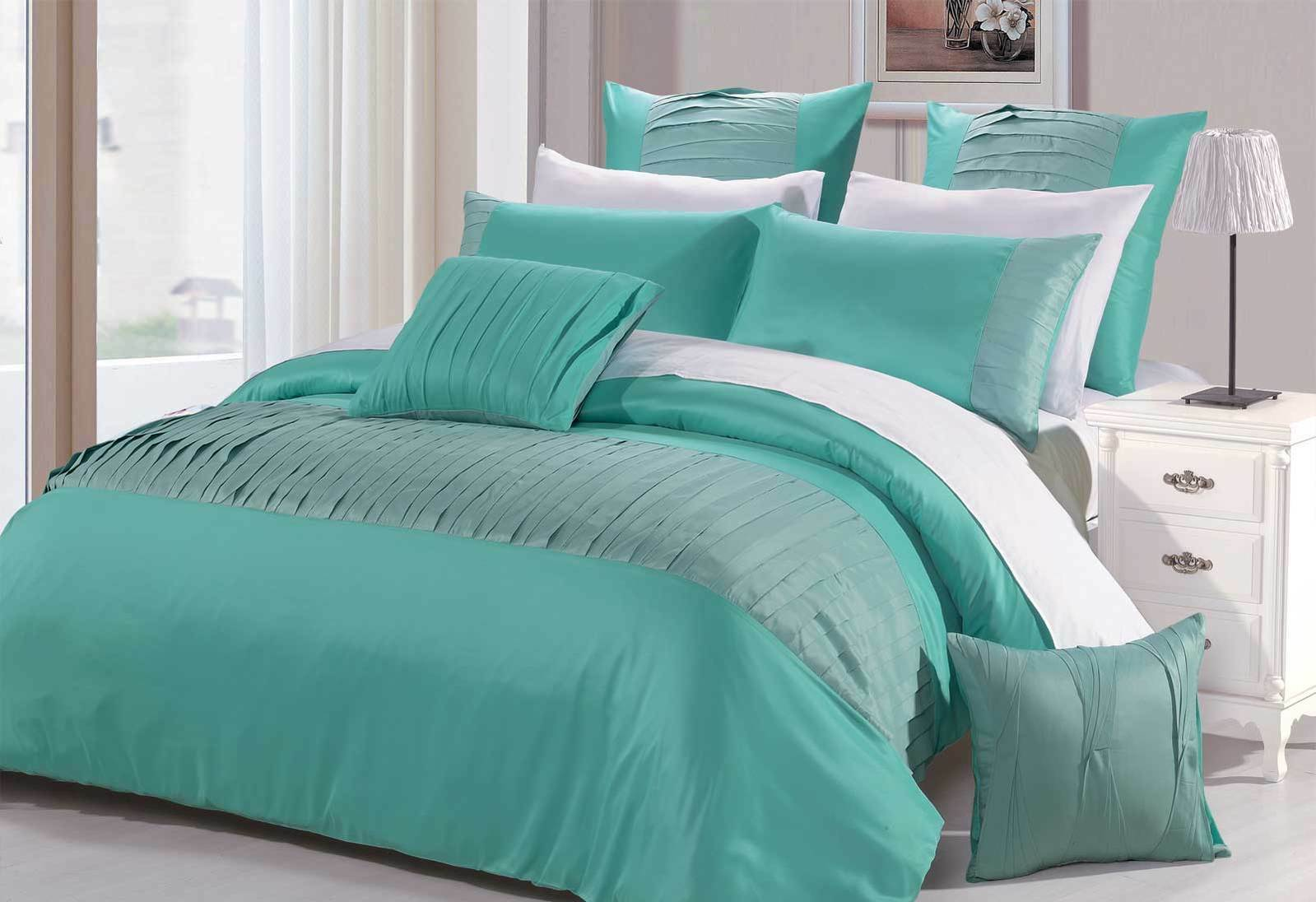 Turquoise Quilt Cover Molise Turquoise Quilt Cover Set Aqua Summer Bedding Set