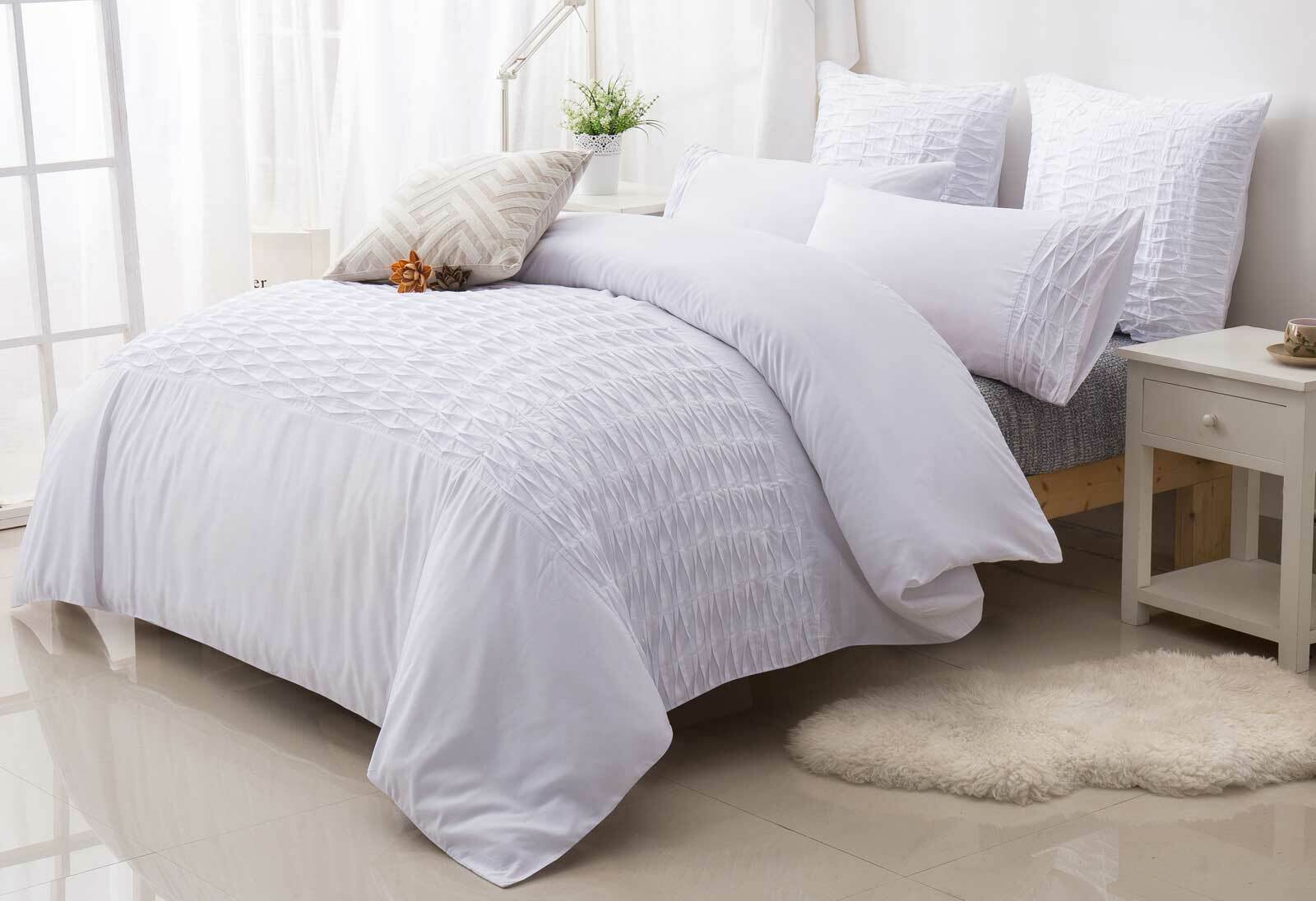 King Single Doona Cover Sally White Pintuck Quilt Doona Cover Set By Luxton