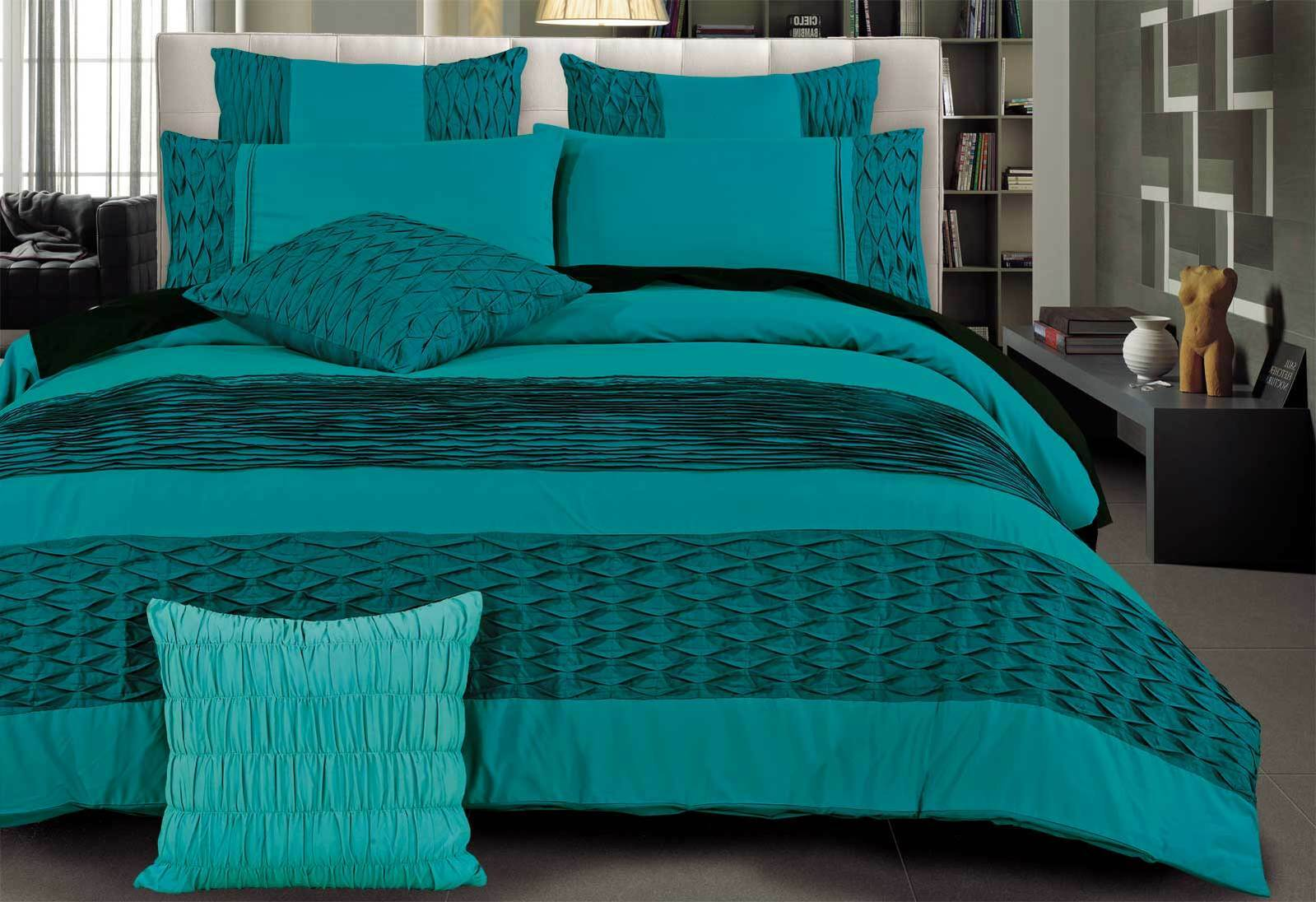Turquoise Quilt Cover Teal Duvet Cover King Sweetgalas