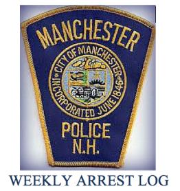 Weekly arrest log