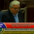 Alderman Pat Long makes his case Monday night during the Special Committee on Drugs, Alcohol and Youth Services.