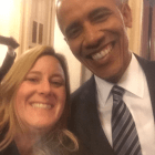 Melissa Fortin Crews with President Obama in Washington, D.C.