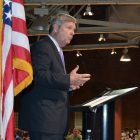 Agriculture Secretary Tom Vilsack delivers keynote address on opioid misuse in rural America to an audience in Manchester, NH on May 9, 2016.