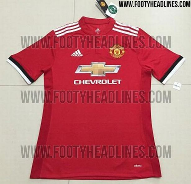 Manchester united 17 18 home kit 2
