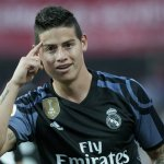 Real Madrid's Colombian midfielder James