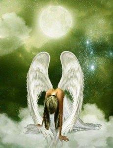она ангел крылья луна