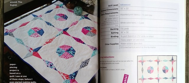 """My quilt """"Strawberry Moon"""" in the Spring issue of Modern Quilts Unlimited"""