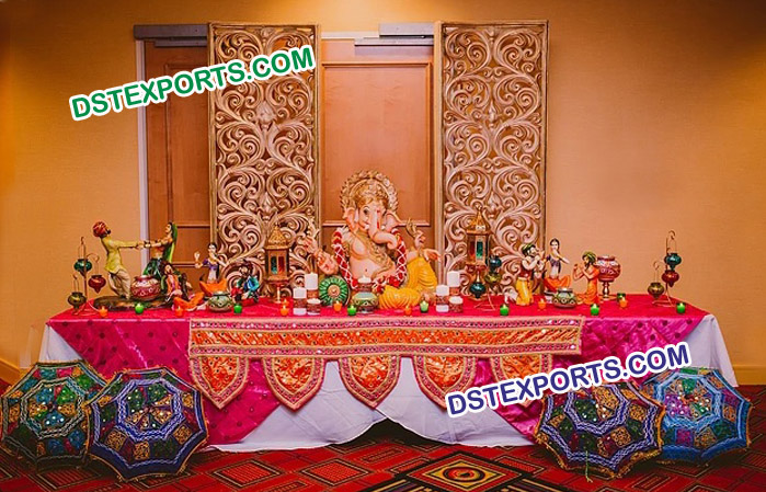 Wedding Rajasthani Theme Foyer Setup Mandap Exporters