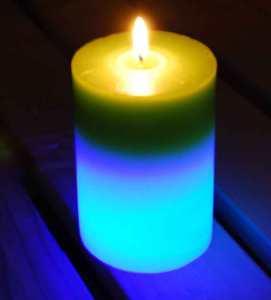 The Buzz Citronella LED Colour-Change Candle